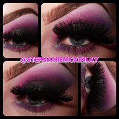Smokey purples and Pinks