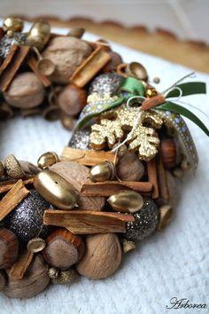 Mały złoty wianek na Boże Narodzenie - Arborea-dekoracje - Wieńce adwentowe