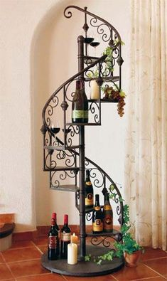 Wine stands/tables design are got here For home,bars,hotel let your place look unique ever and impress your vistors Iron Furniture, Steel Furniture, Home Decor Furniture, Diy Home Decor, Interior Design Living Room, Interior Decorating, Wrought Iron Decor, Ideas Para Organizar, House Plants Decor