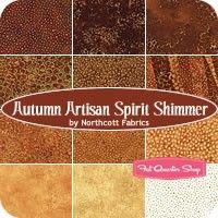 Autumn Artisan Spirit Shimmer Fat Quarter BundleNorthcott Fabrics