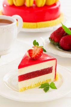 ТОРТ. Лимонно-клубничный торт