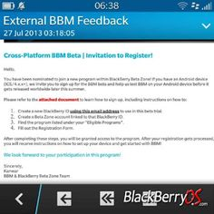BBM for iOS and Android for selected few in Blackberry Beta Zone