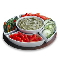 For veggies and dip - to keep on hand in the fridge (cover with saran wrap) so we're more apt to eat more veggies!