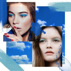 Make up moodboard - blue shadows trend Beauty Trends, Mood Boards, Shadows, Make Up, Blue, Jewelry, Art, Period, Maquillaje