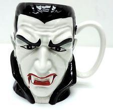 Teleflora Dracula Coffee Cup Mug Halloween Universal Studios Vampire Monster g1