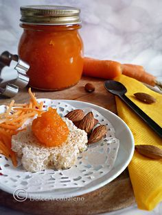Carrot and almond jam DolceArcobaleno Savory Breakfast, Sweet Breakfast, Breakfast Dessert, Breakfast Recipes, Breakfast Casserole, Breakfast Ideas, Food To Go, Food And Drink, Beautiful Fruits