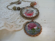 """""""Old Rose"""" Necklace by lilyofthevally"""