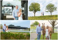 Kevin and Anna Photography Spring engagement photo session at Keeneland Racecourse in Lexington, Kentucky. Trees, Horse, Stable, Barn, Track, Park, Kentucky Bride, Style Me Pretty, Southern Bride, Love, Romantic, Cute, Horse Farm. Kevin and Anna Photography www.kevinandannaweddings.com