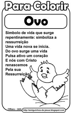 Símbolos da Páscoa: Ovo, Vela, Girassol e Peixe ~ Amiguinhos de Deus New Eve, Comics, Memes, Camilla, Professor, Activities For Kids, Easter Story For Kids, Religious Education, Catechism