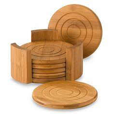 Lipper International Bamboo Coasters (Set of 6)