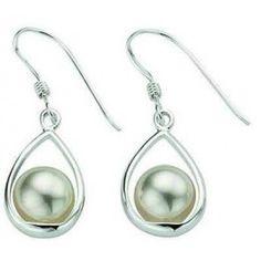 Boucle d'oreille perle en argent, poids 2,4 gr - Modèle Femme