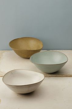 Hyejeong Kim Love the cream and brown Pottery Bowls, Ceramic Pottery, Pottery Art, Thrown Pottery, Slab Pottery, Pottery Studio, Ceramic Tableware, Ceramic Bowls, Ceramic Art