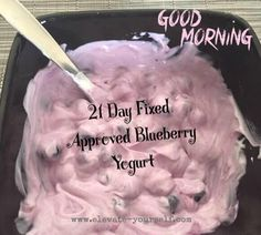 Looking for a healthy snack? This Blueberry Greek Yogurt is also 21 Day Fix approved! Visit my website www,elevate-yourself.com for more great recipes!