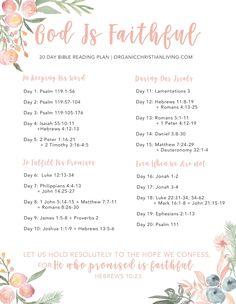 God Is Faithful Bible Reading Plan | Organic Christian Living