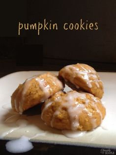 Delicious fall cookie recipe!  Use pumpkin to make this light and cake-y pumpkin cookie!  And by light, I do not mean fat free.  It's tasty!