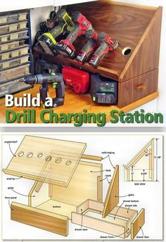 Cordless Drill Charging Station Plans - Workshop Solutions Projects, Tips and Tricks | WoodArchivist.com