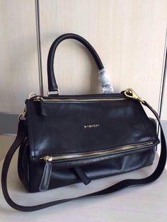 01f7fac2cf Givenchy medium  Pandora  Black shoulder bag Black leather medium  Pandora  shoulder  bag from Givenchy featuring a square body