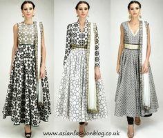 Geometric print anarkali dresses by SVA couture