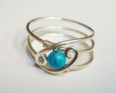 Turquoise+Ring++Turquoise+Jewelry++December+by+SpiralsandSpice,+$24.95