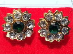 Indian Bollywood style Gold plated vintage CZ stud party ware earrings AOGO1 #lakimanu #Stud