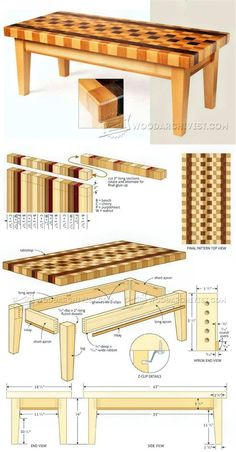 Coffee Table Plans - Furniture Plans and Projects   WoodArchivist.com