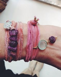 VYVYN Hill- beautiful wrapped and layered bracelet ideas