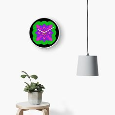 """Mandala Lotus Flower "" Clock by Pultzar 