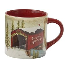 Coffee Mug Sets, Mugs Set, Winter Day, Winter Holidays, Vintage Coffee Cups, Red Team, Parking Design, Decorative Items, Tabletop