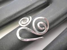 Artisan Sterling Silver Freeform Swirl Ring by BeadlieveJewelry, $36.00