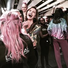 Backstage Madrid Fashion Week • Anja Voskresenska for Esther Noriega by Marion Trumier ©   x L'Oreal professional x Mercedes Benz Fashion Week mbfwm
