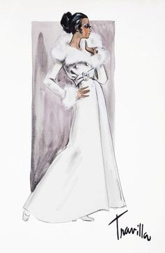 William Travilla - Costumes - Esquisses et Croquis - Diahann Carroll - Couture - Julia