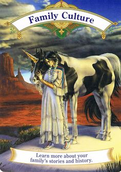 """December 20, 2014 – Card Message – FAMILY CULTURE – from Magical Unicorns by Doreen Virtue. Message: """"Learn more about your family's stories and history."""" When you learn more about your family, the more you get to know about yourself. But you must understand that the past is the past and the emotions hurts must be forgiven and let go in order for you to heal today! Learn, live, let go, forgive and love your past, so the future can be loving, strong and free!"""