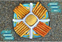 Mexican Cheese Ball - serve with El Monterey Taquitos for an easy and tasty Game Day snack #spon