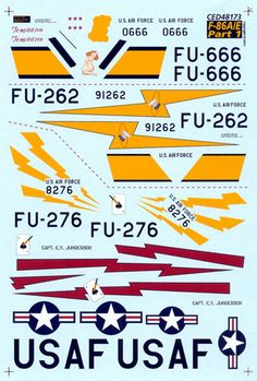 F-86A/E Decal Review by Rodger Kelly (Cutting Edge 1/48)
