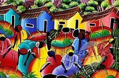 Dominican art... makes you feel like your on the island while sitting at your dining room table...
