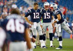 Tim Tebow, Ryan Mallet, & Tom Brady (Tampa Bay Buccaneers vs. New England Patriots--8/16/13) #timtebow