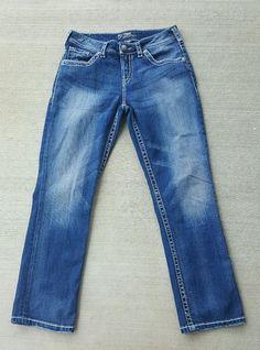 Silver Jeans Juniors Plus-Size Natsuki Capri, Indigo, 20 | Clothes ...
