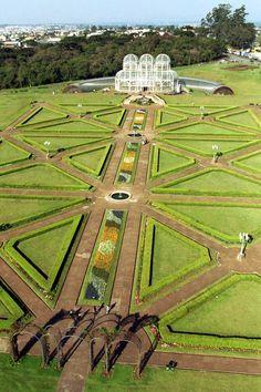Jardim Botânico de Curitiba localizado no Estado do  Paraná, Brasil