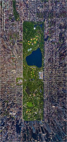 USA, New-York. Central Park, top view by AirPano