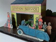 PAPERMAU: 1930`s French Vintage Service Station - by Toto