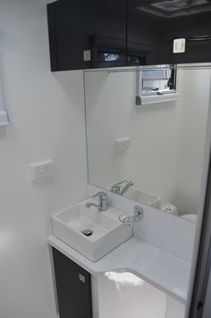 Large mirror in en-suite. Caravans For Sale, Rv Parts And Accessories, Mirror, Airstream Campers For Sale