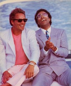 """Crockett & Tubbs, Miami Vice - okay well, not my """"childhood"""" but, I SO remember watching this!  the 80's were GOOD!"""