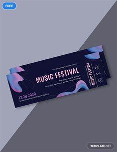 New Music Concert Ticket Design Ideas Concert Ticket Template Free, Event Ticket Template, Music Tickets, Concert Tickets, Event Tickets, Id Card Design, Ticket Design, Pochette Album, Promotional Design