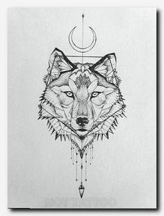 Geometric Tattoo – geometric wolf tattoo - All About Tumblr Tattoo, Tattoo Platzierung, Tattoo Drawings, Tattoo Wolf, Small Wolf Tattoo, Tattoo Female, Wolf Tattoo On Back, Claw Tattoo, Tattoo Neck