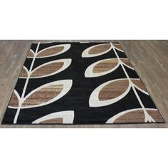 Floral with Jute Backing Power loomed Rug