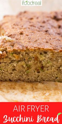 Almond Flour Zucchini Bread with perfect texture, is incredibly delicious, naturally gluten-free, oil-free, refined sugar-free and made with only 4 basic ingredients plus pantry staples. Healthy Breakfast Recipes, Clean Eating Recipes, Snack Recipes, Vegetarian Snacks, Bread Recipes, Healthy Snacks, Desserts For A Crowd, Easy Desserts, Vegan Egg Replacement