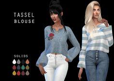 Tassel Blouse at Leo Sims • Sims 4 Updates