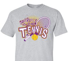 e088719f High School Impressions Custom Tennis Tees - Create your own design for t- shirts, hoodies, sweatshirts. Choose your Text, Ink and Garment Colors
