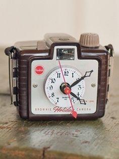 Pendleton Vintage Brownie Holiday Clock
