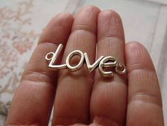Excited to share the latest addition to my #etsy shop: Love Charms, Love Connector Charms, Bracelet Connectors, Bracelet Charms, Necklace Connectors, Antique Silver Tone Love Charms http://etsy.me/2CUQhU0